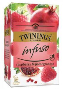 Ceai Twinings Infuso, Raspberry&Pomegranate, 20plicuri/cutie