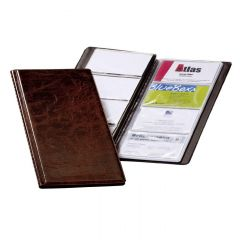 Clasor pentru carti vizita maro A4/2, 4/pagina, Visifix 238011 Durable