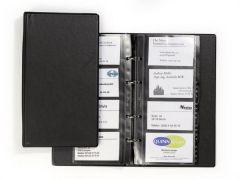 Clasor pentru carti vizita negru A4/2, 4/pagina, Visifix Economy 244101 Durable