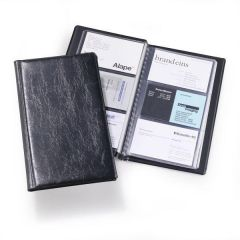 Clasor pentru carti vizita negru A4/2, 3/pagina, Visifix Economy 240001 Durable
