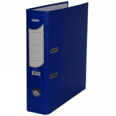 Biblioraft plastifiat 7,5cm, albastru inchis, Noki