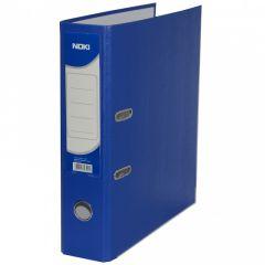 Biblioraft plastifiat 7,5cm, albastru, Noki