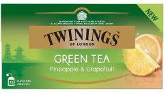 Ceai Twinings verde cu ananas si grapefruit, 25plicuri/cutie