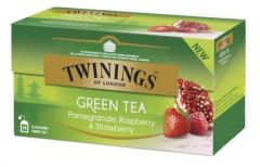 Ceai Twinings verde cu rodie, zmeura si capsuni, 25plicuri/cutie