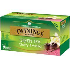 Ceai Twinings verde cu cirese si vanilie, 25plicuri/cutie