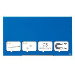Whiteboard magnetic din sticla, 100cm x 56cm, albastru, Widescreen Diamond NOBO