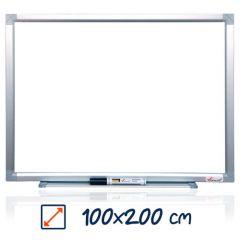 Whiteboard magnetic, 100cm x 200cm, Visual