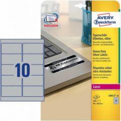 Etichete autoadezive de identificare 10/A4, 20coli/cutie, 96x50,8mm, Avery Zweckform