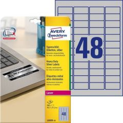 Etichete autoadezive de identificare 48/A4, 20coli/cutie, 45,7x21,2mm, Avery Zweckform