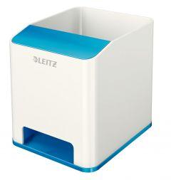 Suport instrumente de scris, cu sistem de amplificare a sunetului, alb/bleo metalizat, Wow Leitz