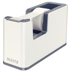 Banda adeziva cu dispenser, 19mm x 33m, alb/gri, Wow Leitz