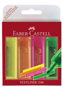Textmarker 4 culori superfluorescente/set (galben, roz, portocaliu, verde), 1546 , FC154604 Faber Ca