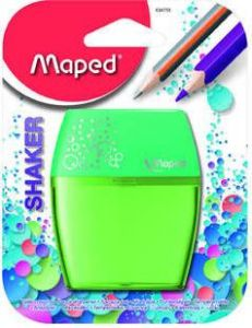 Ascutitoare dubla, verde, blister Shaker Maped