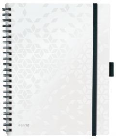 Caiet cu spira A4, 80file, matematica, coperta PP alb, Wow Be Mobile PP Leitz