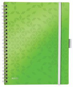 Caiet cu spira A4, 80file, matematica, coperta PP verde, Wow Be Mobile PP Leitz