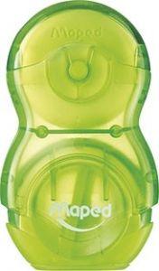 Ascutitoare cu guma, verde, Loopy Maped