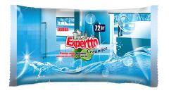 Servetele umede pt. curatare suprafete ceramice, aroma lamaie, 72buc/pachet Expertto