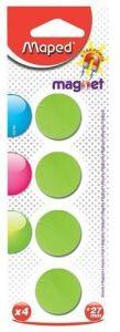 Magneti, 27mm, culoare verde, 4buc/set, Maped