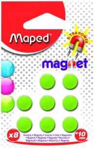 Magneti, 10mm, culoare verde, 8buc/set, Maped