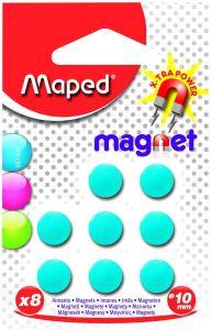 Magneti, 10mm, culoare albastru, 8buc/set, Maped