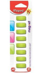 Magneti rectangulari, 27mm, culoare verde, 8buc/set, Maped
