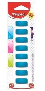 Magneti rectangulari, 27mm, culoare albastru, 8buc/set, Maped