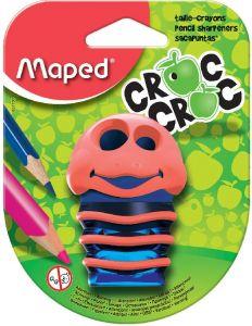 Ascutitoare dubla, albastra/roz, blister Croc Croc Maped