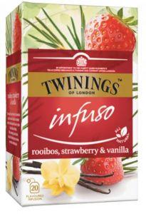 Ceai Twinings Infuso Rooibos,Strawberry&Vanilla, 20plicuri/cutie