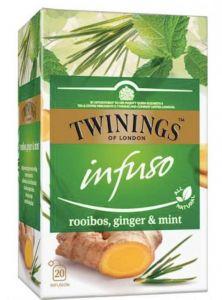 Ceai Twinings Infuso Rooibos,Ginger&Mint, 20plicuri/cutie