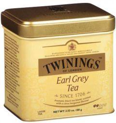 Ceai Twinings Earl Grey, negru, cutie metal, 100g