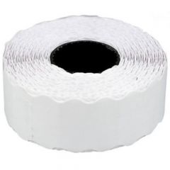 Etichete autoadezive albe,ondulate, pt preturi in rola 26x12mm, 1000buc/rola, 6role/set, Tanex
