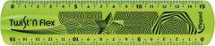 Rigla plastic color, 15cm, verde, Twist'n Flex Maped