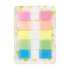 Index autoadeziv plastic cu dispenser, 5x20file/set, 44mm x 12mm, transparent color, Deli
