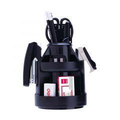 Suport accesorii birou, echipat, negru, 5 compartimente, 38250A Deli
