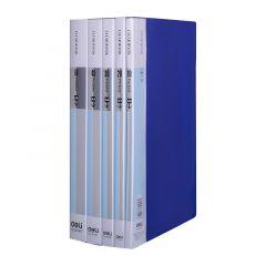 Dosar de prezentare A4 cu 60 file incluse, diferite culori, coperta rigida Deli