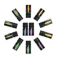 Set 12 uleiuri esentiale pentru difuzor aroma, Anjou AJ-PCN013