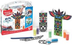 Set creativ, Nisip colorat, Mini Box Maped