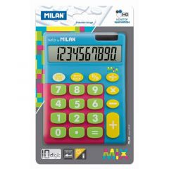 Calculator de birou 10 digit, albastru, Mix Milan