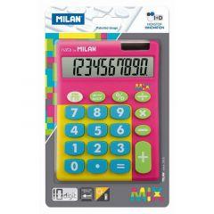 Calculator de birou 10 digit, roz, Mix Milan