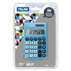 Calculator de buzunar 8 digit, albastru, Milan 150908