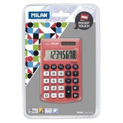 Calculator de buzunar 8 digit, rosu, Milan 150908