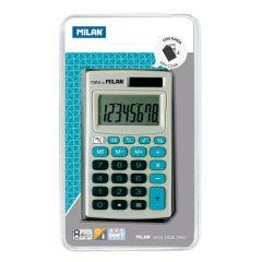 Calculator de birou 8 digit, albastru, Milan 150208