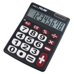 Calculator de birou 8 digit, negru, Milan 708