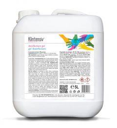 Dezinfectant, gel, cu alcool, pentru igiena mainilor, 5L, Klintensiv