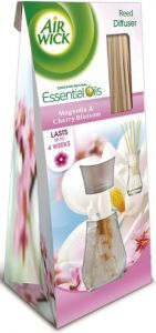 Odorizant cu bete de ratan pentru camera, parfum magnolie si flori de cires, 25ml, Reed Diffuser Air
