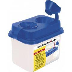 Pahar plastic pentru spalat pensule, 2 compartimente, Eberhard Faber