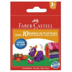 Plastilina in cutie, 10 culori/set, 95g, 120810  Faber Castell