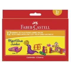 Plastilina in cutie, 12 culori neon /set, 160g, 120822 Faber Castell