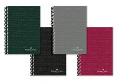 Caiet cu spira A4, 80file, dictando, coperta PP color, culori clasice, Faber Castell