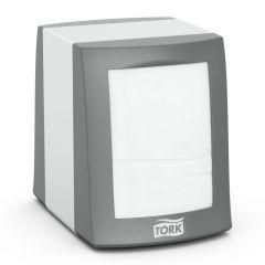 Dispenser din metal gri pentru servetele de masa Counterfold, Tork 271800